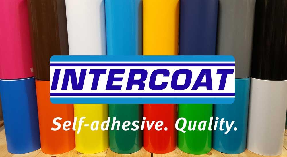Intercoat snijvinyl stcikerfolie-banner