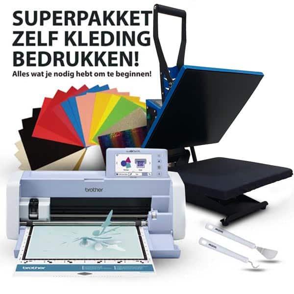 Op Voorraad!, Compleet pakket kleding bedrukken, Inclusief zeer complete accessoires set