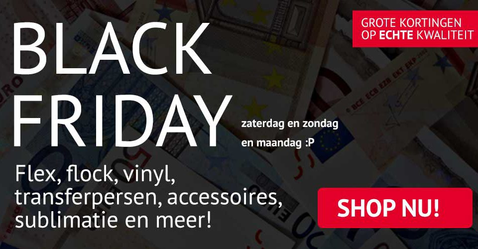 Black friday bij Creaplot! Alles voor de Brother ScanNCut flex vinyl en meer