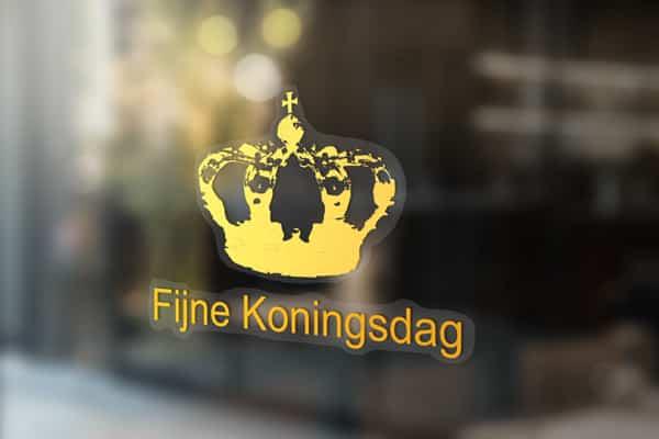 Kroon-Raamsticker-koningsdag