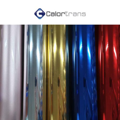 Calortrans metallic spiegel textielfolie